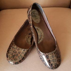 boc leopard print flats